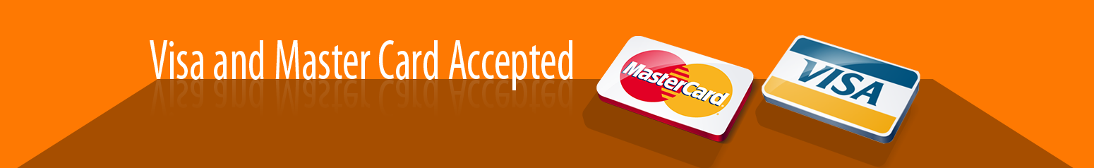Visa & Master Card Accepted